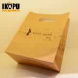 형식은 강선전도 손잡이를 가진 Kraft 종이 선물 부대를 자루에 넣는다
