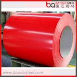 Hoja de acero galvanizada prepintada/bobina de acero cubierta color