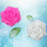 Outdoor Waterproof Battery Operated Plastic LED Peony Flower com cintilação