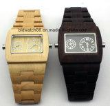 Relógios Multifuncionais Multifuncionais de Madeira para Homens