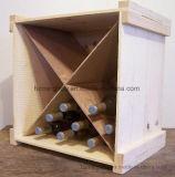 木の飲料およびワイン・ボトルの表示収納箱ラック