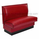 Cabina facoltativa della mobilia del ristorante di colore all'ingrosso con la tappezzeria di cuoio dell'unità di elaborazione (SP-KS119)