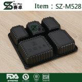 Sai Zhuo Wegwerfplastikmittagessen-Kasten dick mit einem quadratischen fünf Partition-Nahrungsmittelmittagessen-Kasten