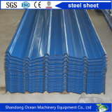 Feuille en acier profilée de toiture ridée par la tôle d'acier de PPGI Yx25-205-1025 avec le prix concurrentiel de Chine
