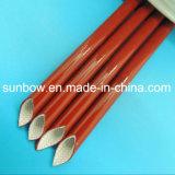 Fibre de verre enduite en caoutchouc de silicones gainant pour l'appareil électrique d'isolation
