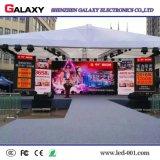 Parete esterna piena di alta risoluzione dell'affitto LED di colore P4/P5/P6 video per l'esposizione, fase, evento