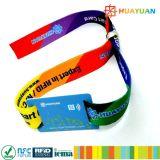 音楽祭NTAG216 RFIDファブリックイベントのリスト・ストラップ