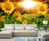 Картина маслом солнцецветов напечатанная Inkjet для домашнего украшения