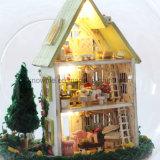 El juguete de madera DIY del Dollhouse encantador de Guangzhou con cumpleaños del mejor amigo de la bola de cristal desea la Mini-Sol Alis