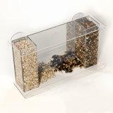 明確なガラス窓のアクリルの鳥の送り装置の脂肪