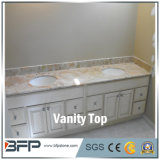 De stevige Bovenkant van de Ijdelheid van de Kleur van de Badkamers van de Oppervlakte Witte met Uitstekende kwaliteit