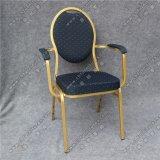 Оптовый подлокотник стальной рамки обедая стул для случая Yc-Zg02-01