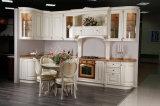 Gabinete de cozinha da madeira contínua da mobília da cozinha