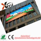 P10 LED a todo color al aire libre que hace publicidad de la visualización de pantalla del módulo