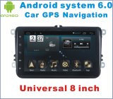 Véhicule androïde DVD du système 6.0 pour l'universel de VW 8 pouces avec la navigation du véhicule GPS