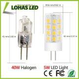 La lampadina E14 G4 G9 2835 SMD 5W del cereale del LED scalda la lampada incandescente bianca del rimontaggio di 2800k 40-Watt