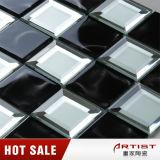 Mattonelle di mosaico bianche Shinning del nero della miscela dello specchio