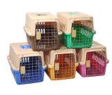 Casa plástica do animal de estimação da gaiola do cão da casa de cão da cor brilhante dos PP