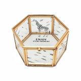 Alto brillante hecha a mano de cristal de encargo plegable elegante joyería caja de regalo