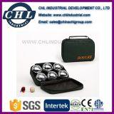 Sfera di Bocce personalizzata della resina di marchio 90mm con il sacchetto di trasporto