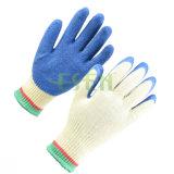 Gants à moitié enduits/plongés de nitriles de coton de travail de sûreté, gants de jardin