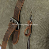 Grande sacchetto di fine settimana del Duffel di corsa della tela di canapa del Tote casuale della borsa