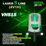 Hulpmiddel Van uitstekende kwaliteit Vh515 van het Niveau van de Laser van Vijf Stralen van Danpon van het Hulpmiddel van de macht het Navulbare Groene