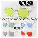 Óculos de sol elegantes finos Km17067 do metal do frame quadrado inteiramente