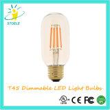 Bulbo de Edison da luz da câmara de ar do diodo emissor de luz de T45 8W E27 240V