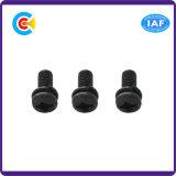 Schwarze Zink-Sprung-Auflage-Kreuz-Wannen-Kopf-Schraube für Elektronik/Geräte