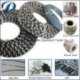 봄 대리석 화강암 절단 철사를 위한 고무 절단 다이아몬드 철사는 기계를 보았다