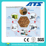 Moinho da pelota da madeira de combustível contínuo da biomassa do Ce (1-2ton/h)