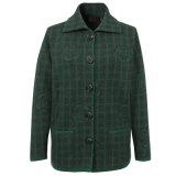 Os iaques e as lãs das senhoras Gn1506 misturaram o casaco de lã feito malha de Turndown colar luxuoso