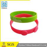 Wristband feito sob encomenda da borracha do bracelete do silicone/silicone