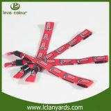 Vente personnalisée par bracelets tissée par broderie estampée promotionnelle