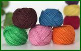 3ply gefärbtes Jutefaser-Faser-Garn (purpurrot)