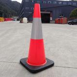 PVCベースの反射のトラフィックの円錐形750のmm