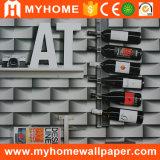 Papier de mur à la maison du vinyle 3D de PVC de décoration 2017 neuf