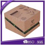 Caixa de empacotamento de papel recicl rígida articulada do cuidado de pele da tampa