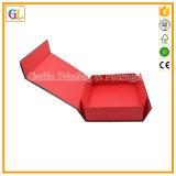 Caixa de presente Foldable preta do ímã