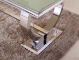 Sj890ガラス上が付いている現代金属のコーヒーテーブル