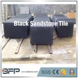 屋外の舗装のための自然で黒い砂岩床タイル
