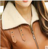 Los nuevos diseños de estilo corto Escudo de la Mujer de cuero de piel de oveja de Wholesell