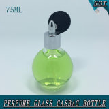 75ml球のガス袋のスプレーポンプねじ帽子のガラス香水瓶