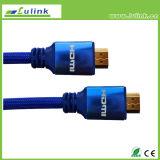 Câble plaqué par or du câble HDMI de PVC HDMI d'en cuivre de câble de HDMI
