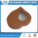 As caixas luxuosas do chocolate com as caixas rígidas da forma do coração da curva da fita esvaziam o empacotamento