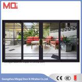 Porte coulissante en verre de bâti en aluminium dans le profil thermique d'interruption