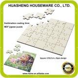 Puzzle blanc de panneau dur de sublimation de teinture de Chine