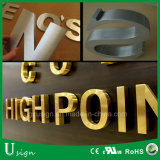 3D modificado para requisitos particulares que hace publicidad de la señalización puesta a contraluz metal