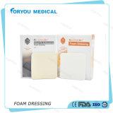 Vendaje para heridas diabético de la espuma de Foryou de piel de la espuma médica diabética hidrofílica médica del cuidado